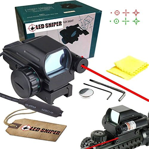 Ledsniper-Useful-Tactical-Holographic-Reflex-Red-Green-Dot-Scope-4-Reticle-Red-Laser-Sight-0