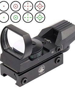 Vokul-Tactical-4-Reticle-Red-Dot-Open-Reflex-Sight-with-Weaver-Picatinny-Rail-Mount-for-22-mm-Rails-0-1