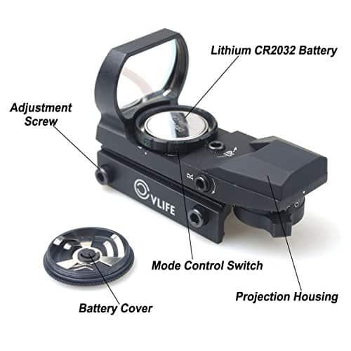 CVLIFE-1X22X33-Red-Green-Dot-Gun-Sight-Scope-Reflex-Sight-with-20mm-Rail-0-0
