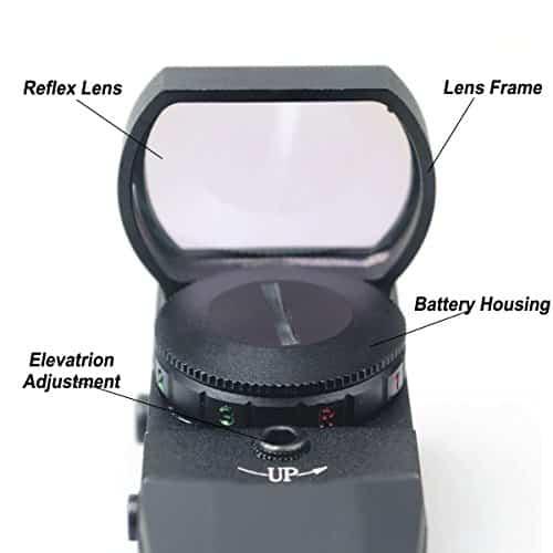 CVLIFE-1X22X33-Red-Green-Dot-Gun-Sight-Scope-Reflex-Sight-with-20mm-Rail-0-1