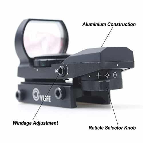CVLIFE-1X22X33-Red-Green-Dot-Gun-Sight-Scope-Reflex-Sight-with-20mm-Rail-0-2