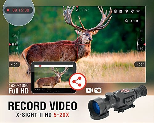 ATN-X-Sight-II-5-20-Smart-Riflescope-w1080p-Video-WiFi-GPS-Image-Stabilization-Range-Finder-Shooting-Solution-and-IOS-and-Android-Apps-0-0
