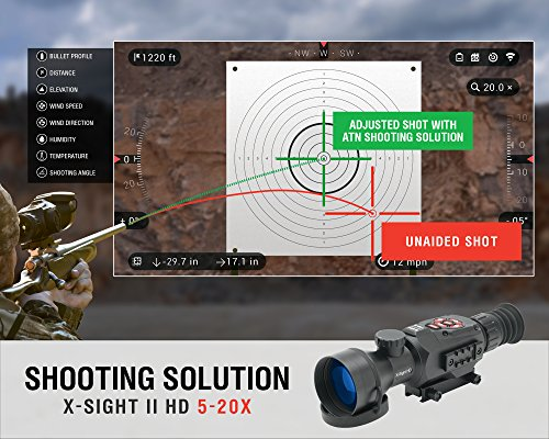 ATN-X-Sight-II-5-20-Smart-Riflescope-w1080p-Video-WiFi-GPS-Image-Stabilization-Range-Finder-Shooting-Solution-and-IOS-and-Android-Apps-0-3